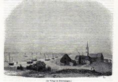 Antique print Scheveningen Holland 1845 / houtgravure