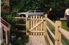 Split rail fence gate. For more DIY home projects, check out: www.birchlandinghome.com