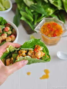 Looking for Fast & Easy Appetizer Recipes, Healthy Recipes, Seafood Recipes! Recipechart has over free recipes for you to browse. Find more recipes like Spicy Passionfruit, Coconut & Prawn Lettuce Wraps. Healthy Chicken Recipes, Easy Healthy Recipes, Seafood Recipes, Lettuce Wrap Recipes, Lettuce Wraps, Easy Appetizer Recipes, Dinner Recipes, Coconut Prawns, Prawn Dishes
