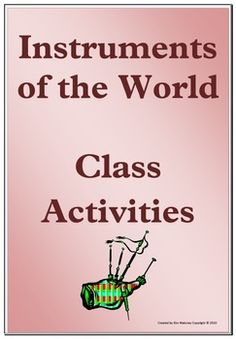 """World music: THREE World Instrument Activities to add to your World Music Unit   Great for """"World Around Us"""" class - pin now, read later!"""
