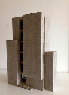 Dynamisches Spiel der Quader - Ausstellungsturm Projekt für Grundkurs Architektur und Konstruktion 2015SS TUWien