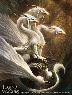 Artist: Kou Takano aka Kotakan - Title: Unknown - Card: Alabaster Plumed Dragon (White)