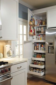 Corner Cabinets - CHECK PIN for Lots of Kitchen Cabinet Ideas. 59566875 #cabinets #kitchens