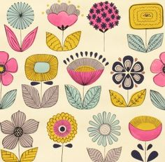 Mecca for moderns - urban garden tea - 7745ar - alexander henry fabric