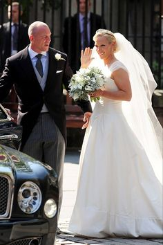 A #royal #wedding. Zara Phillips marrying her rugby-playing beau Mike Tindall at the Palace of Holyroodhouse, in 2011.