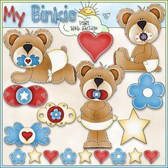 My Binkie 1 Digi Web Studio Clip Art Download by Trina Clark