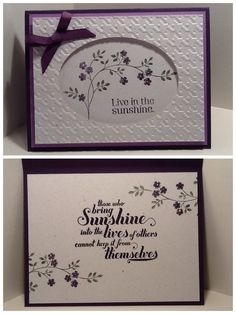 Stampin up stamps: Thoughts & Prayers, Feel Goods, Pursuit of Happiness.  Crosshatch EF.