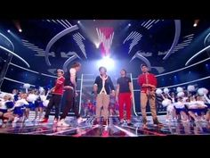 "One Direction sing Kids in America - The X Factor Live show 5. I honestly love this performance..... Simon: ""Louis the raincloud over here."" LOL :)"