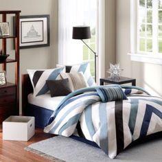 Master Bedroom.....Madison Park Mercer Collection 7-Piece Comforter Set - BedBathandBeyond.com