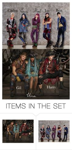 """~Disney Descendants 2 Cast~"" by geminiemerald91 ❤ liked on Polyvore featuring art"