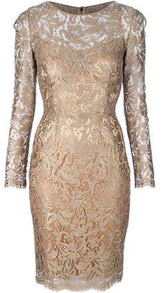 DOLCE & GABBANA  Gold Lace Dress