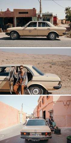 Fashion designer Norya Ayron explored Morocco with a vintage Mercedes-Benz. Photo by Amy Tuxworth