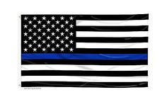Flags 43533: Large Thin Blue Line American Flag - 4 X 6 Foot Flag With Gromm... Free Shipping -> BUY IT NOW ONLY: $31.7 on eBay!