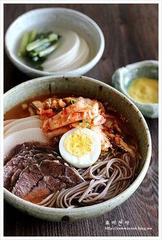 시원한 김치말이국수 만드는법 – 레시피   Daum 요리