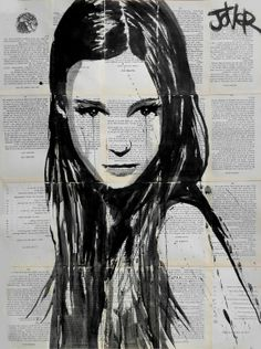 """godiva"" by Loui Jover; Ink 2013 Drawing"