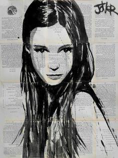 "Saatchi Art Artist: Loui Jover; Ink 2013 Drawing ""godiva"""