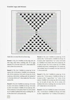 Plaid xon triangoli a noccioline Uncinetto