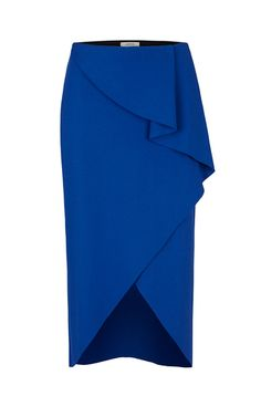 This **Dorothee Schumacher** Sculptural Movement Asymmetric Skirt features a… by minnie Blouse And Skirt, Dress Skirt, Peplum Dress, Jupe Skater, Asymmetrical Skirt, Mode Inspiration, Skirt Outfits, African Fashion, Blouses For Women