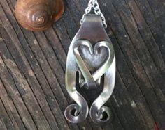 Fork Heart Pendant