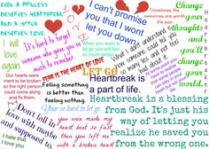 Just a little thing about heartbreak... It's some Heartbreak quotes.