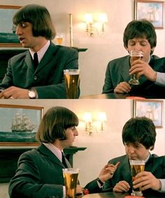 ringo and paul....sad, but they are the only two that are still here today....