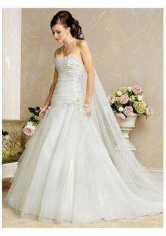 De lujo baratos hermosos vestidos de novia strapless 2012