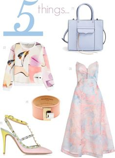 5 Things... {Pastel Edition} | {LATEST WRINKLE} | #spring #fashion #trends #pastel #Bags #Dress #wedding #rockstud #heels #cuff #print