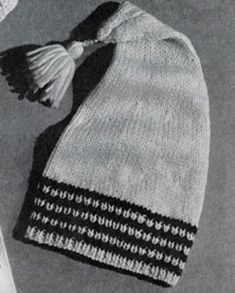 Toboggan Cap knitting pattern from Lacey's Speed Knits for Tiny Tots, originally published by T.M. Lacey, Volume 31.