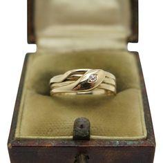 An English Victorian diamond snake ring Hallmarked Birmingham 1895 Snake Ring, Victorian Gold, Birmingham, Cufflinks, English, Diamond, Rings, Accessories, Diamonds