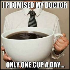 A coffee addict will always find excuses to have another cup of coffee.