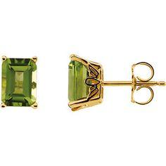 Peridot Scroll Setting Earrings Item #61744