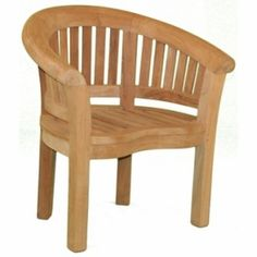 Teak Half Moon Single Chair by Jewels of Java.