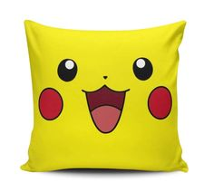Capa Almofada Pokemon PIKACHU 40cm Cute Cushions, Small Pillows, Cute Pillows, Baby Pillows, Kids Pillows, Decorative Pillows, Throw Pillows, Flower Bouquet Diy, Cute Squishies
