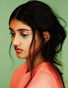 bright blue #beauty
