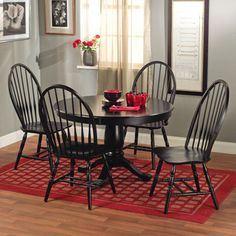 Simple Living Alexa Black Dining Chairs (Set Of 2) By Simple Living
