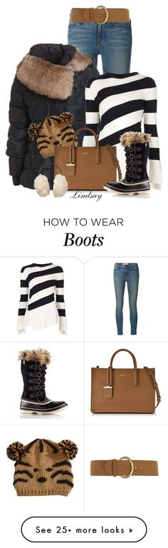 """""""Sorel Women's Joan of Arctic Black Snow Boots"""" by lindsayd78 on Polyvore featuring Frame Denim, Alexander McQueen, Pilot, DKNY, SOREL, Dorothy Perkins, Uniqlo, women's clothing, women and female"""