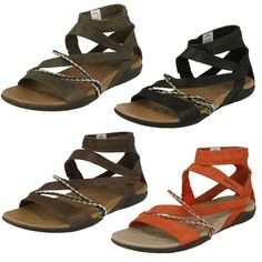 Ladies Merrell leather sandal Henna #Merrell #Strappy