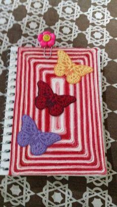Trabalho feito com cordao colorido