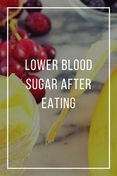 lower blood sugar after eating Blood Sugar After Eating, Blood Sugar Diet, Lower Blood Sugar, Low Sugar, Diabetic Tips, Pre Diabetic, Diabetic Meals, Diabetic Friendly, Health And Wellness