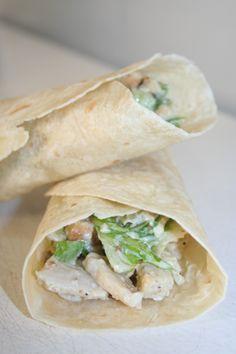 Caeser Chicken Wraps