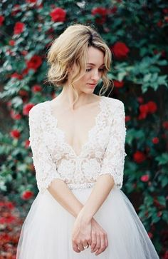 Find out how to match your wedding hairstyle to your gown on SHEfinds.com.