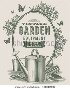 Vintage garden background - stock vector
