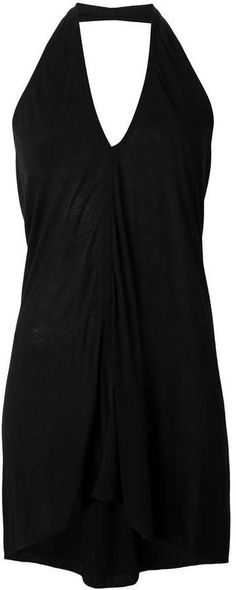 Discounts Rick Owens Lilies Black Draped Sleeveless Top For Women On Sale