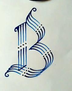 Letter Art, Letters, Bullet Journal Lettering Ideas, Hand Lettering Alphabet, Hand Lettering Tutorial, Creative Lettering, Diy Canvas Art, Calligraphy Art, Art Drawings Sketches