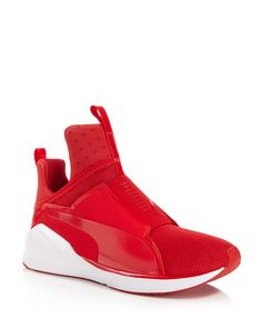 Laceless and lightweight, Puma's athleisure-inspired sneakers take any workout to the next level. With a sleek bootie-like construction and a flex-grooved outsole to suit fast, multi-directional movem