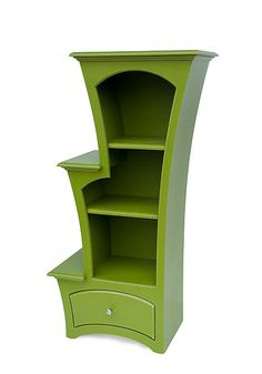 Bookcase by Vincent Leman - Apple Green Paint (Wood Bookcase) Eclectic Furniture, Funky Furniture, Accent Furniture, Unique Furniture, Shabby Chic Furniture, Painted Furniture, Cardboard Furniture, Furniture Market, Bedroom Furniture