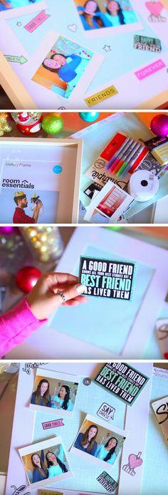 Scrapbook Photo Frame | 35 + DIY Christmas Gifts for Teen Girls