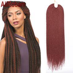 Promotie haak twist haar doos braid extensions 22 inch 30 strands/pack havana mambo twist gehaakte vlechten haar senegalese twist