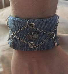 Denim Boho Cuff by RachelsArtsyFartsy on Etsy