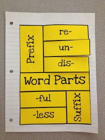 Prefix & Suffix Foldable {Freebie}  I did something like this last month. It was great!